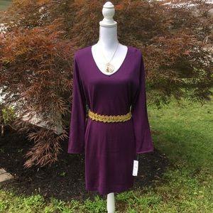 NWT eggplant sweater dress